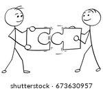 cartoon vector stick man... | Shutterstock .eps vector #673630957