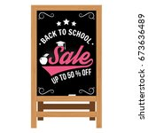 back to school design. for... | Shutterstock .eps vector #673636489