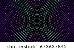 abstract glittering lights | Shutterstock . vector #673637845