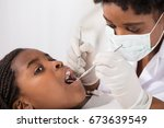 close up of girl with open...   Shutterstock . vector #673639549