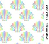 mother of pearl abstract shells.... | Shutterstock .eps vector #673653055