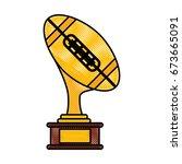 golden trophy design   Shutterstock .eps vector #673665091