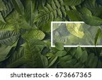 top view of creative layout... | Shutterstock . vector #673667365