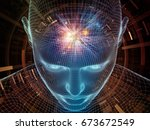 radiating mind series. 3d... | Shutterstock . vector #673672549