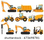 different types of construction ... | Shutterstock .eps vector #673698781