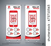 roll up brochure flyer banner... | Shutterstock .eps vector #673710565