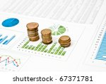 graphs and charts with stacks...   Shutterstock . vector #67371781