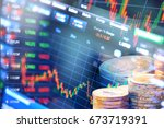 stock market  trade graph | Shutterstock . vector #673719391