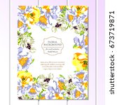 vintage delicate invitation...   Shutterstock .eps vector #673719871