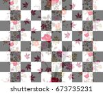 seamless bilayer pattern with... | Shutterstock . vector #673735231