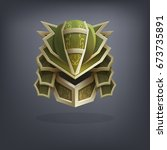 iron fantasy armor helmet for... | Shutterstock .eps vector #673735891