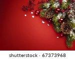 art christmas greeting card | Shutterstock . vector #67373968