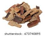 du zhong  eucommia bark on... | Shutterstock . vector #673740895