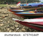 traditional water boat... | Shutterstock . vector #673741669