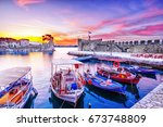 Old Greek Port Nafpaktos With...