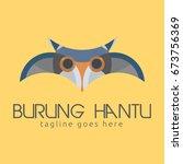 owl simple logo template design.... | Shutterstock .eps vector #673756369