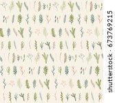 floral seamless pattern with... | Shutterstock .eps vector #673769215