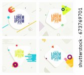 dynamic and modern style cards... | Shutterstock .eps vector #673769701