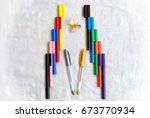 sketch colours and pens | Shutterstock . vector #673770934