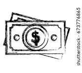 bill dollar isolated icon | Shutterstock .eps vector #673776865