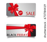 black friday greeting card.... | Shutterstock .eps vector #673784419
