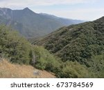 entering sequoia and kings... | Shutterstock . vector #673784569