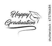 happy graduation   typography   ... | Shutterstock .eps vector #673786684