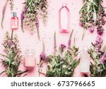 natural cosmetic products... | Shutterstock . vector #673796665