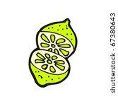 cut lime cartoon | Shutterstock .eps vector #67380643