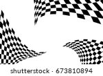 checkered racing flag isolated... | Shutterstock .eps vector #673810894