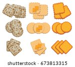 Vector Set Of Cracker Chips....