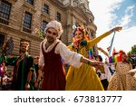 london lgbt pride   saturday ... | Shutterstock . vector #673813777