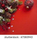 art christmas greeting card | Shutterstock . vector #67383943