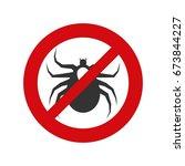 ticks acarine free safety sign | Shutterstock .eps vector #673844227
