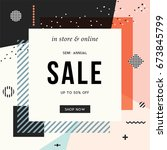 sale banner template design.... | Shutterstock .eps vector #673845799