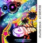 alternative disco flyer for... | Shutterstock .eps vector #67385458