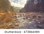 arkoudorema river at pindus ...   Shutterstock . vector #673866484