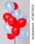 many colorful balloons isolated ... | Shutterstock . vector #673873015