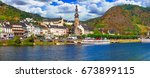 travel in germany   famous... | Shutterstock . vector #673899115