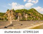 gellert hill with pauline order ... | Shutterstock . vector #673901164