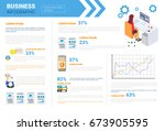 business infographics set copy... | Shutterstock .eps vector #673905595