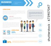 business infographics set copy... | Shutterstock .eps vector #673907047