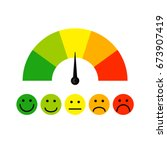 customer satisfaction meter... | Shutterstock .eps vector #673907419