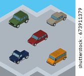 isometric car set of car  suv ...