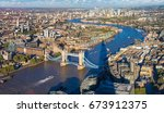 panoramic aerial view of tower... | Shutterstock . vector #673912375