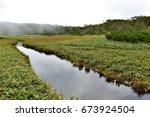 nature of the shiretoko...   Shutterstock . vector #673924504