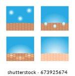 skin whitening vector | Shutterstock .eps vector #673925674