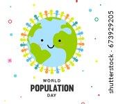 world population day vector...   Shutterstock .eps vector #673929205