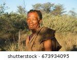 ghanzi  botswana   may 14  san... | Shutterstock . vector #673934095