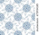 floral seamless texture ... | Shutterstock .eps vector #673934185